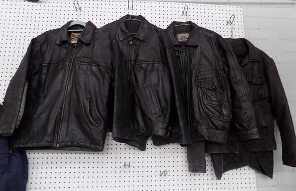 4x Vintage leather jackets