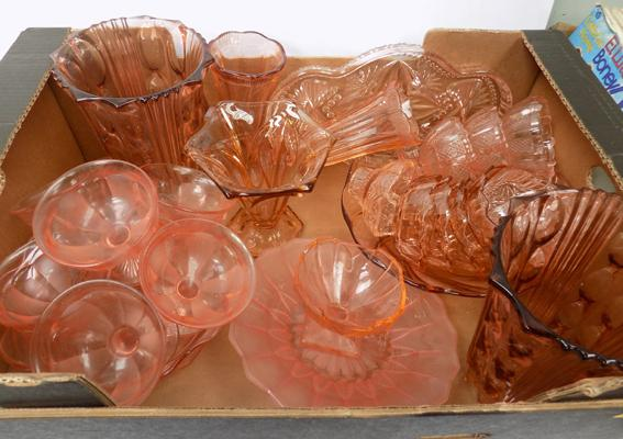 Large selection of rose tinted glass
