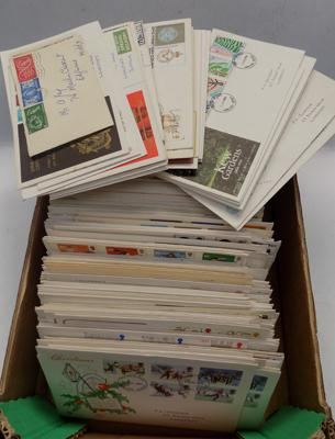 Box containing large amount of First Day Covers