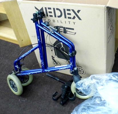 Medex mobility Walker complete but dismantled, unchecked