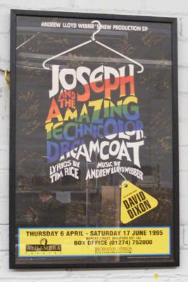 Framed 'Joseph & The Amazing Technicolor Dreamcoat', fully signed cast poster staring David Dixon
