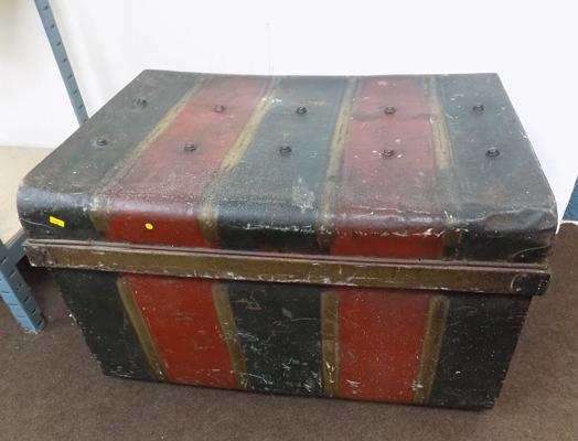 Victorian painted metal box