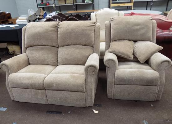 2 seater recliner and chair