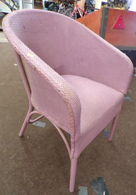 Painted Lloyd Loom style chair