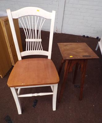 Plant stand & kitchen chair