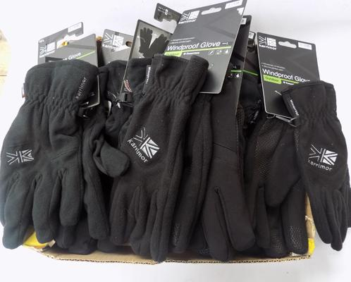 Box of new gloves with tags - RRP £175