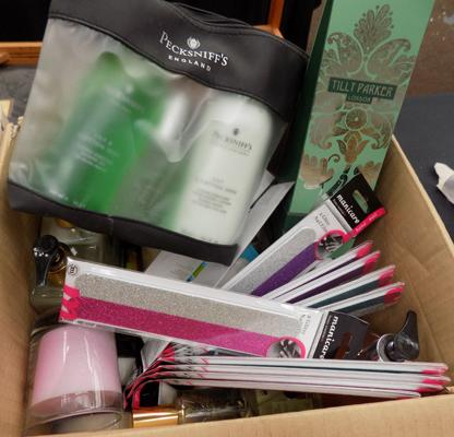 Box of cosmetics - as seen
