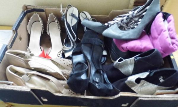 Selection of mostly ladies shoes - as new