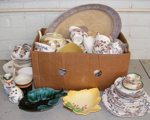 Large collection of mixed pottery inc Carlton ware, Royal Doulton, Hornsea etc