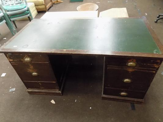 Leather top desk