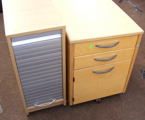 Two office units - three drawers + filing