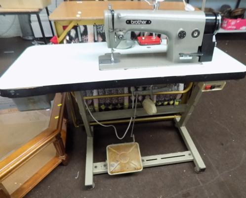Brother industrial sewing machine on stand