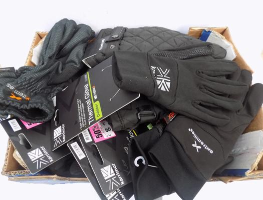 Box of new and as new gloves - RRP £160 approx.