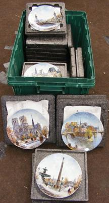 Selection of collectable plates, Limoges Parisian scenes & landmarks