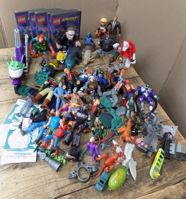 Mixed loose toy figures - 1990's: Transformers, Space Monkey etc...