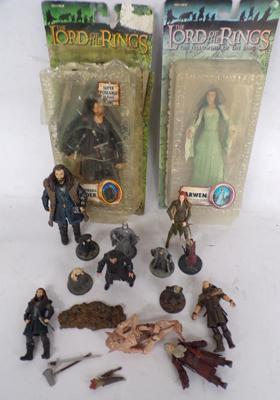 15x Lord of the Rings/Hobbit figures/2 carded/metal