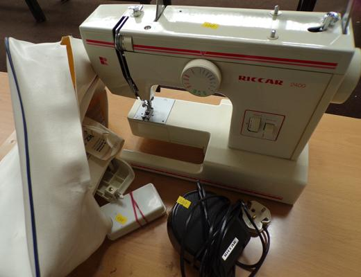 Riccar electric sewing machine (incl. treadle)