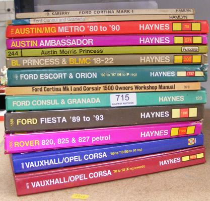 Selection of Haynes books - some vintage