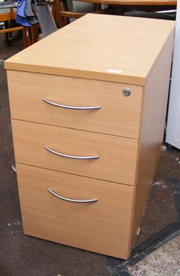 Three drawer set of office drawers