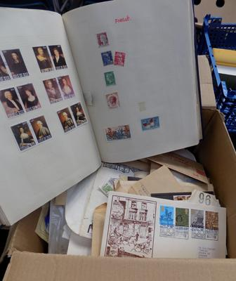 Large box of stamps in envelopes etc...