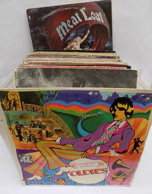 Mixed lot of LP albums inc The Beatles