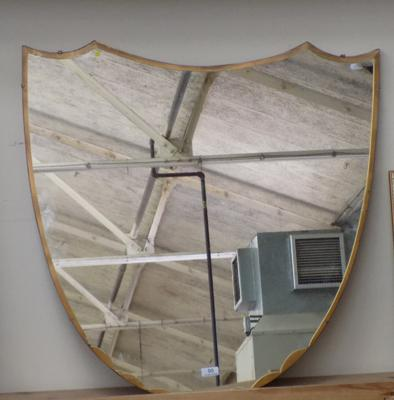 Shield shaped large mirror