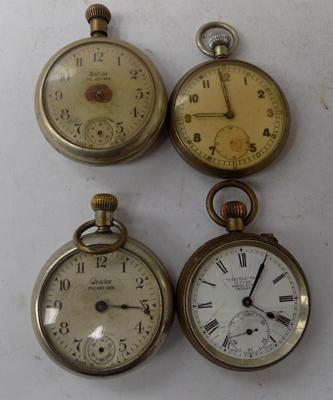 4 antique gents pocket watches