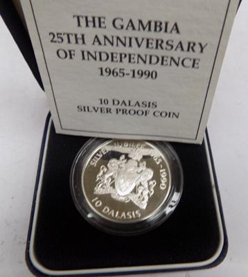 1990 Gambia solid silver collectors coin