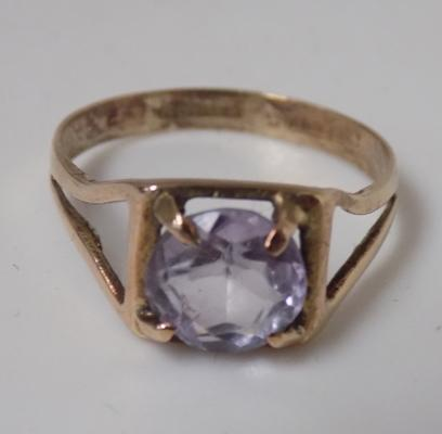 9ct gold amethyst ring size N