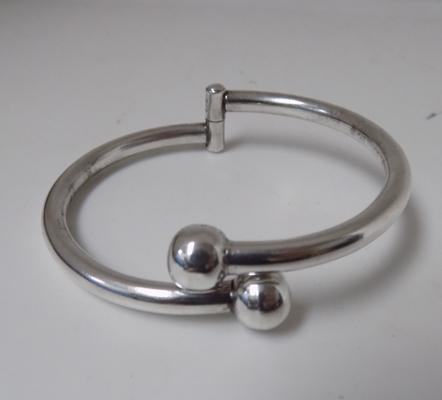925 silver torque style bangle