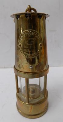 Miniature brass miners lamp - approx. 4""