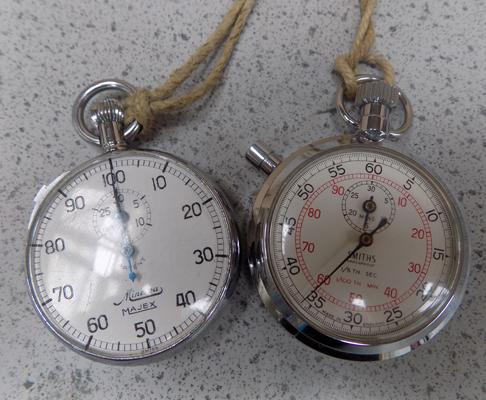 2 stop watches - Smiths and Ninerva Majex