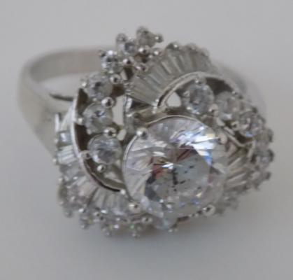 Large heavy silver QVC cubic zirconia ring