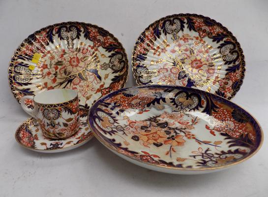 Selection of Royal Crown Derby Imari items including early 19th Century Bowl.