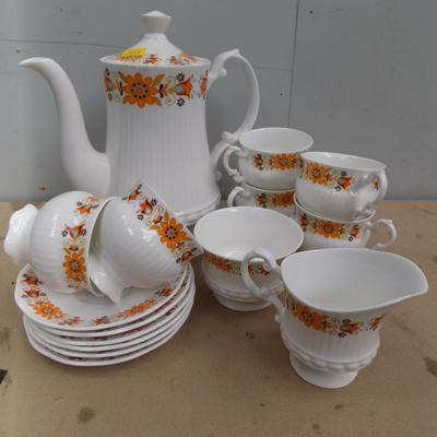 6 piece coffee set - Mayfair bone china