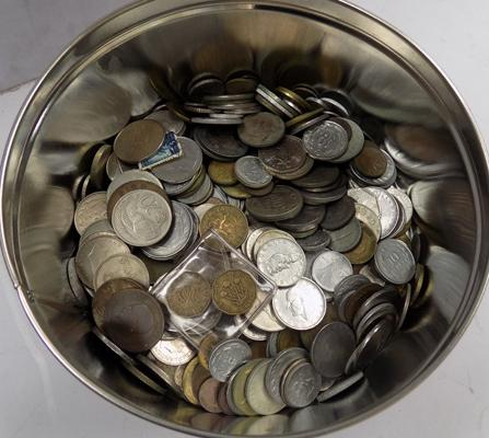 Small tin of coins