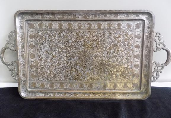 Large vintage Indian tray