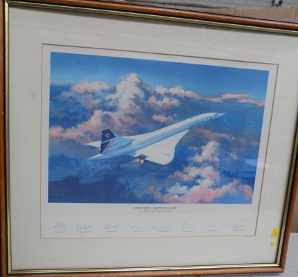 Concorde 'Simply the Best' limited edition print 1113 of 1950 - signed by Pilots