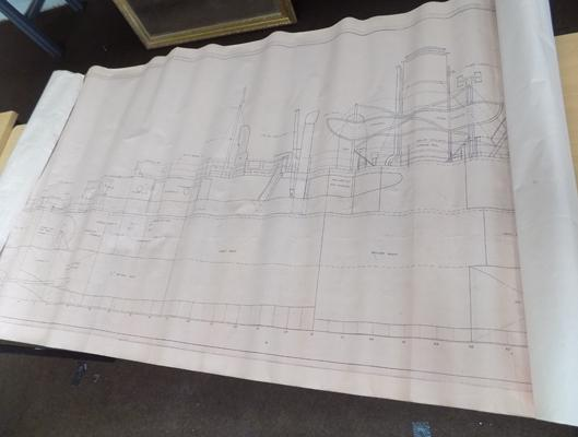 Blue print of military ship HMNZS Stawell - as fitted - May 1955