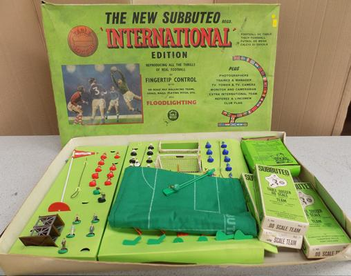 Subbuteo international edition with 3 extra teams