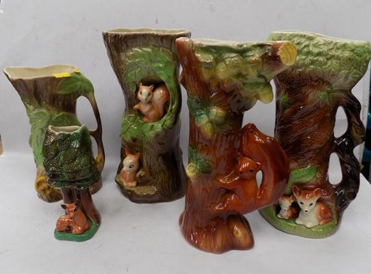 5 Eastgate pottery vases