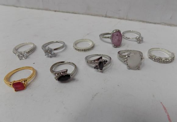 Selection of good quality costume rings