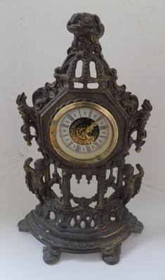 Vintage/ antique gilt brass cherub clock