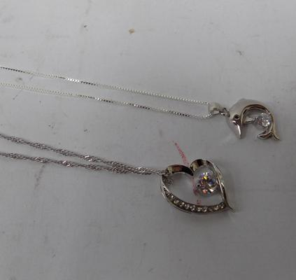 2x 925 silver necklaces
