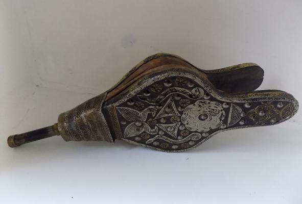 Vintage bellows with metal work detail