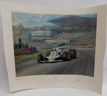Limited edition signed print of Alan Jones-signed by Alan Jones & artist Alan Fealey