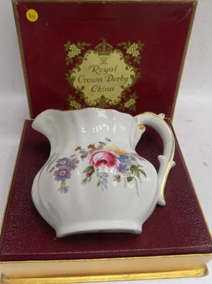 Boxed Royal Crown Derby jug - Derby Posses series