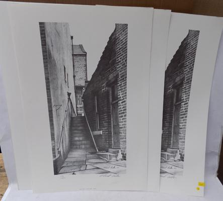 5 signed prints of Haworth by local artist - S.Waldon (numbered print run)