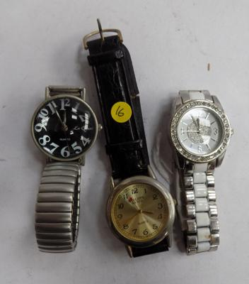 3 watches incl. Quartz