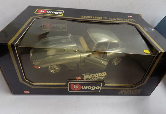 Burago boxed Jaguar E Coupe - 1961